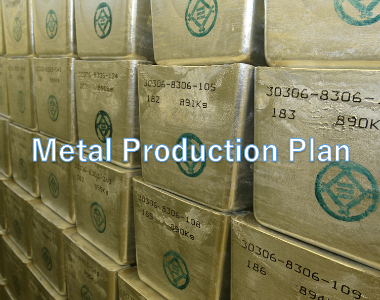 Metal Production Plan for the First Half of FY2020