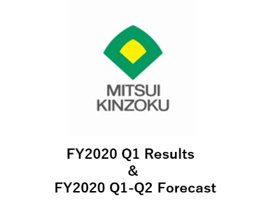 FY2020 Q1 Results & FY2020 Q1-Q2 Forecast